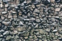 Parede áspera das rochas Foto de Stock Royalty Free