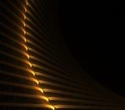 Parede abstrata curvada alaranjada ilustração stock