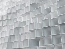 Parede abstrata de caixas vazias ilustração do vetor