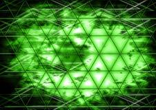 Parede abstrata do cocept do projeto da cor do fundo do triângulo Fotos de Stock Royalty Free