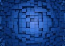 Parede abstrata do cubo Fotografia de Stock Royalty Free