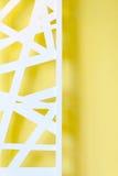 Parede amarela com textura 3D Foto de Stock Royalty Free