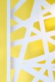 parede amarela com textura 3D branca Fotos de Stock Royalty Free