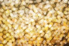 Parede amarela do bokeh Imagem de Stock Royalty Free