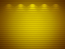 Parede amarela iluminada, fundo Fotos de Stock