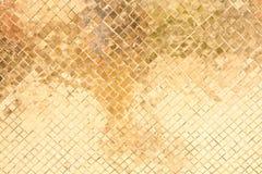 Parede antiga amarela Imagem de Stock