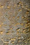 Parede antiga de uma fortaleza Carcassonne fotografia de stock royalty free