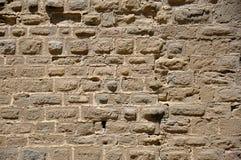 Parede antiga de uma fortaleza Carcassonne imagens de stock