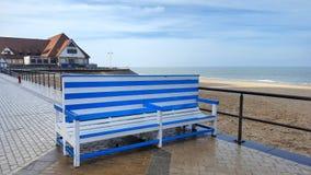 Parede atlântica Oostende Fotografia de Stock