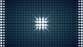 Parede azul de piscamento da placa das luzes do laço de Vj do fundo das luzes do estroboscópio das luzes A caixa ilumina o teste  ilustração do vetor