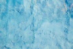 Parede azul do cimento foto de stock