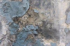 Parede azul do gunge do emplastro da casca da pintura fotos de stock