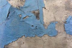 Parede azul do gunge do emplastro da casca da pintura imagem de stock