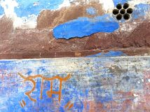Parede azul em Jodhpur, Rajastan, Índia. Foto de Stock