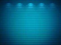 Parede azul iluminada Fotografia de Stock Royalty Free