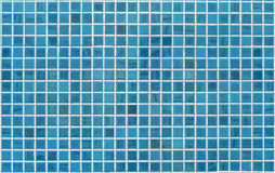 Parede azul ou ciana da telha Fotografia de Stock