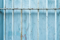parede azul velha da janela Imagem de Stock Royalty Free