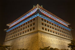 Parede Beijing China da cidade dos homens de Dongguan da torre de vigia Imagem de Stock