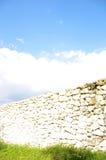 Parede bonita com céu e verde Fotos de Stock Royalty Free