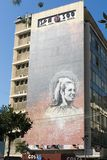 Parede bonita dos grafittis Hamra Beirute no 2 de fevereiro de 2018 fotos de stock