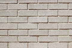 Parede branca do brickwall dos tijolos do concreto pré-fabricado Fotos de Stock