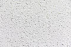 Parede branca pintada com técnica do gotele imagem de stock royalty free