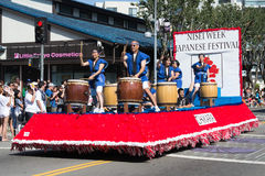 The parede car in thet 73th Annual Nisei Week Grand Parade Royalty Free Stock Photos