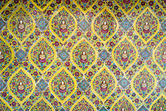 Parede cerâmica tailandesa antiga da telha Fotos de Stock Royalty Free