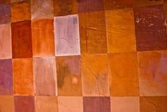 Parede Checkered Foto de Stock