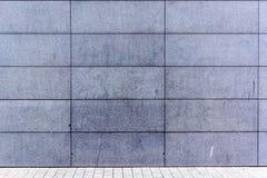 Parede cinzenta contínua Fotografia de Stock