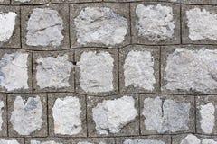 Parede cinzenta e de pedra, close-up foto de stock royalty free