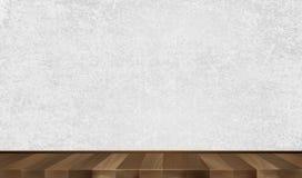 Parede cinzenta, parquet de madeira Fundo Ilustração do vetor Imagem de Stock