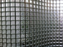 Parede clara do bloco de vidro Fotografia de Stock Royalty Free