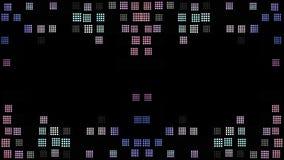 Parede colorida aleatória do pixel video estoque