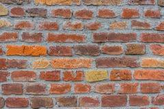Parede colorida do almofariz dos tijolos vermelhos Fotos de Stock Royalty Free