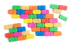 Parede colorida quebrada Imagem de Stock