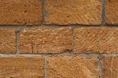 Parede com blocos grandes da pedra calcária Fotos de Stock Royalty Free