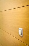 Parede com detalhe do interruptor da luz Foto de Stock
