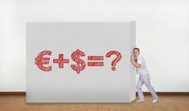 Parede com fórmula do negócio Imagens de Stock Royalty Free