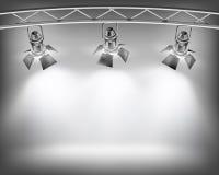 Parede com luzes Imagens de Stock Royalty Free