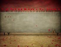 Parede com rosas ilustração royalty free