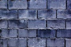 Parede construída de blocos de cimento ou de blocos ventilados do silicato do gás imagem de stock royalty free