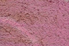 Parede cor-de-rosa áspera Imagens de Stock