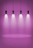 Parede cor-de-rosa dos projetores Foto de Stock