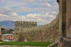 A parede curvada da fortaleza Imagens de Stock Royalty Free