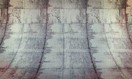 Parede curvada do grunge Imagem de Stock