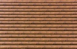 Parede da amostra da casa com casa de log Imagem de Stock
