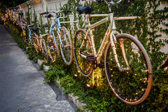 Parede da bicicleta Fotografia de Stock Royalty Free