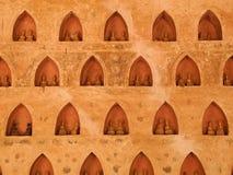 Parede da Buda em vientiane, Laos Imagens de Stock Royalty Free