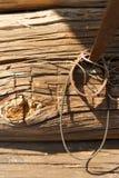 A parede da cabana velha Foto de Stock Royalty Free
